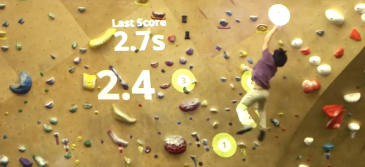 interactive climbing video game