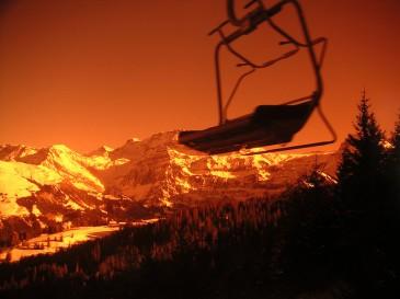 ski goggles view
