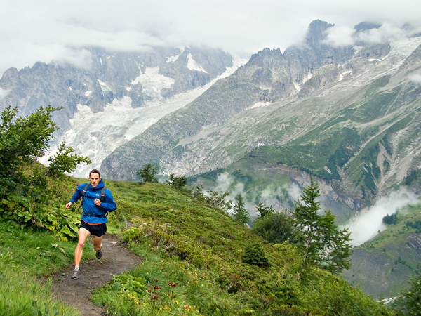 Trail running on the Tour of Mont Blanc